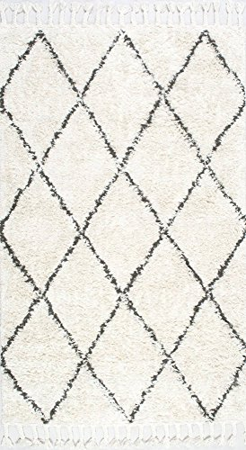 nuLOOM 200SPRE14A8010 Venice Collection Wool Moroccan Shag Area Rug 8 x 10 Natural