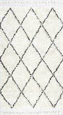nuLOOM 200SPRE14A8010 Moroccan Shag Rug 8 x 10 Natural