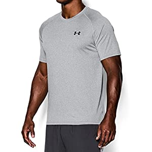 Under Armour Men's Tech Short Sleeve T-Shirt, True Gray Heather/Black, XXX-Large