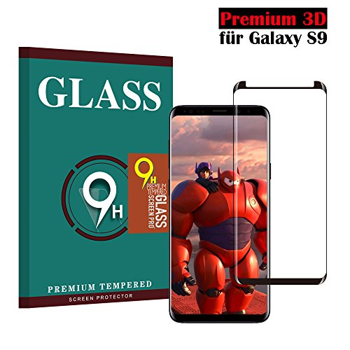 Samsung Galaxy S9 Panzerglas Schutzfolie, Hjsang Hohe Qualität 3D Displayschutzfolie [Ultra Klar] [Anti-Kratzen] [Anti-Fingerabdruck] [Blasenfreie Installation] Gehärtetes Glas Panzerglas Folie für Samsung Galaxy S9