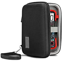 Protective Case for Innova 3320 Digital Multimeter with Hard Shell Exterior and Wrist Strap by USA Gear - Mesh Pocket Holds Cables , Batteries , Wire Strippers and More Electrical Testing Tools