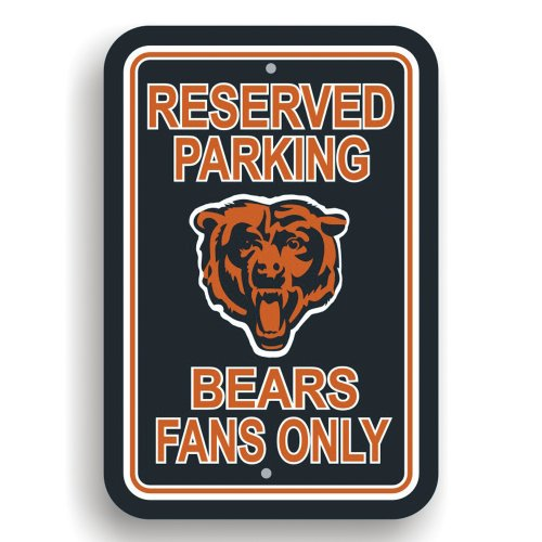 Fremont Die NFL Chicago Bears Plastic Parking Sign