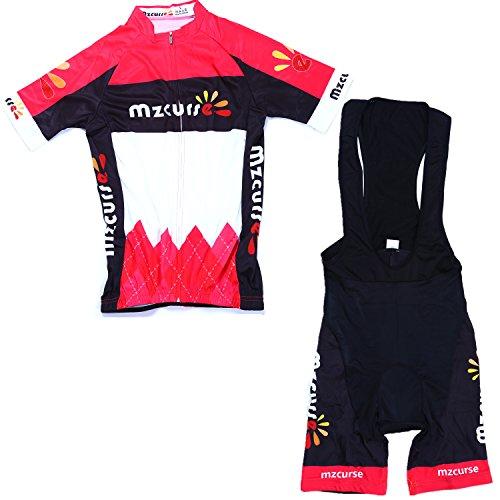 Mzcurse Women's Short Sleeve Cycling Shirt Jersey + 3D Pa...