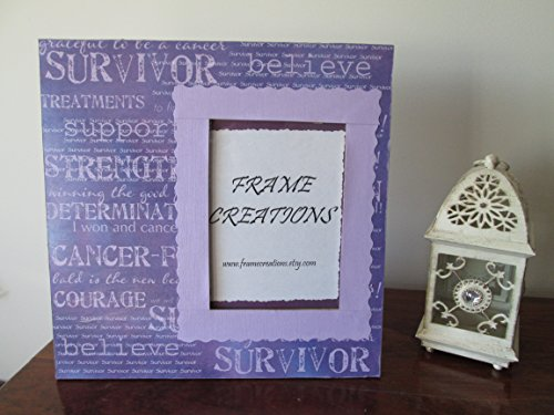 5x7 Breast Cancer Awareness Themed - Hand Decorated Picture ()