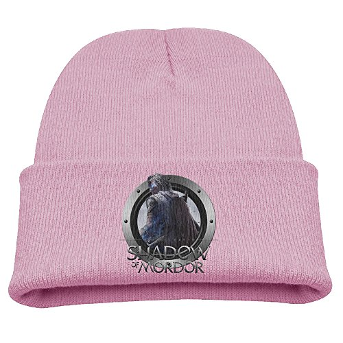 Youth Boys Beanie Hat Hipster Beanie Winter Middle Earth Shadow of Mordor Skull Cap KnittedToboggans Stockings Pink (Middle Earth Shadow Of Mordor Special Edition)