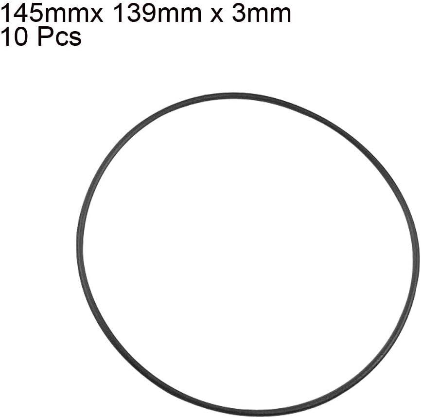 sourcingmap Lot de 10 bagues en caoutchouc Nitrile m/étrique 145 mm OD 35 mm d/épaisseur Noir