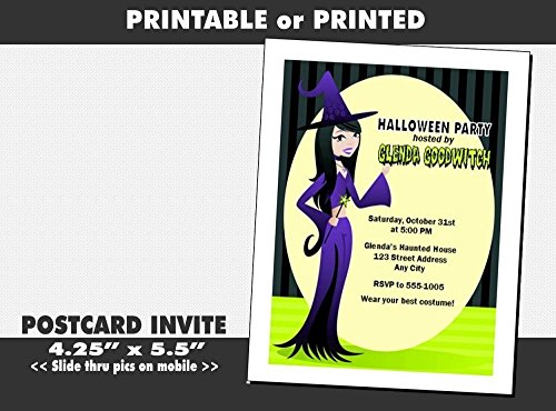 The Good Witch Halloween Party Invitation, Printable or Printed Option -