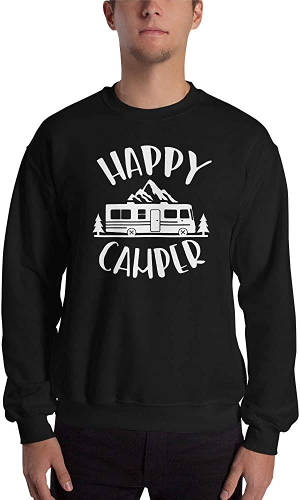 Happy Camper Camping Vacation Motorhome Camper Van Trailer Travel Unisex Sweatshirt