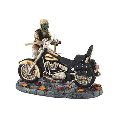 Department 56 Halloween Village Mummy with Harley Davidson Motorcycle 4051019