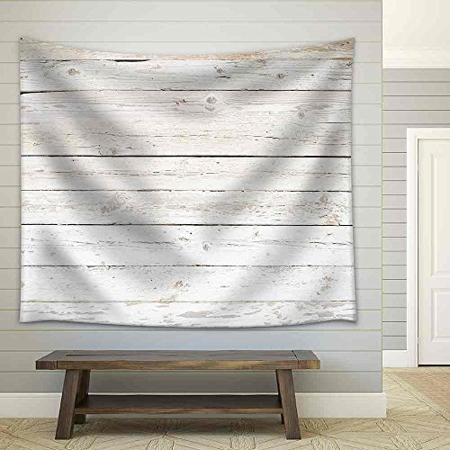 Grunge Background of Weathered Painted Wooden Plank Fabric Wall