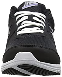 New Balance Women\'s 496v3 Walking Shoe, Black/White, 9.5 B US