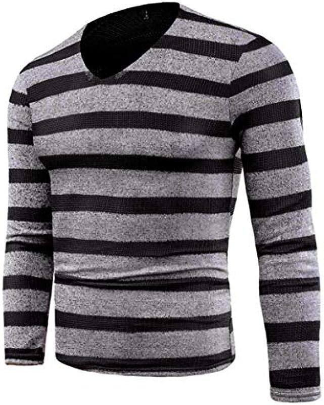 Pulli męskie Nner jesień zima sweter slim ubrania Fit Jumper artykuły dziergane modne paski sweter na zewnątrz sport topy długa bluza bluzy: Odzież
