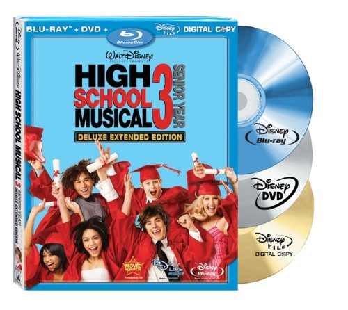 High School Musical 3: Senior Year (Deluxe Extended Edition + Digital Copy + DVD and BD Live) [Blu-ray] for $<!--$16.99-->