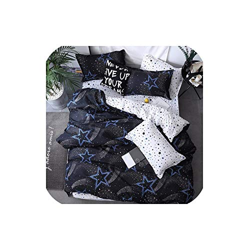 - LOVE-JING Home Textile Pink Girl Heart Bedding Set 3/4Pcs Quilt Cover Queen Full King Size Children Cartoon Duvet Cover Bedclothes,K15,Twin 4Pcs,(Flat Bed Sheet)