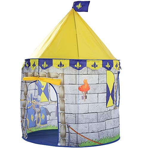 Sviper Kids Play Tunnels Castle Play Tent Kids Mini Indoor Outdoor Toys Playhouse Foldable Pop Up Tunnel Gift Toy by Sviper (Image #1)