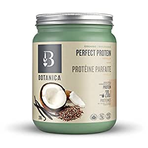 Botanica Perfect Protein Powder | Organic | Plant-Based | Stevia Free | 390 Grams | 10 Servings