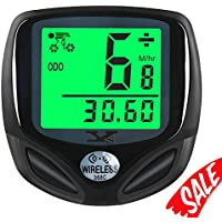 Bike Speedometer Waterproof Wireless Bicycle Bike...