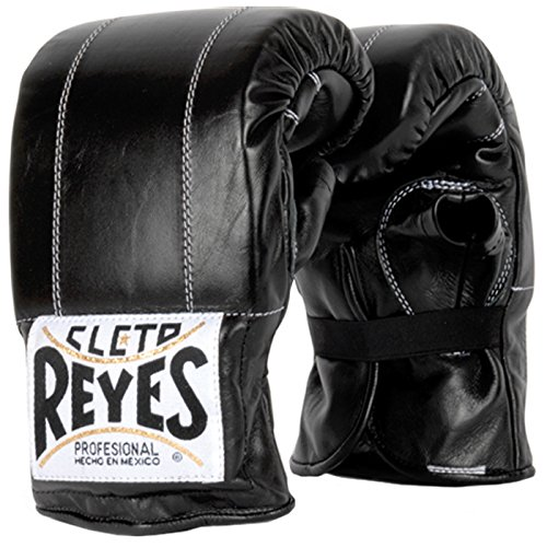 Black Elastic Glove - Cleto Reyes Bag Glove with Elastic Cuff - Black L