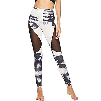 GFDHGT Pantalones De Yoga Impresión De Las Mujeres De Malla ...