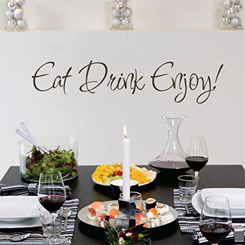 Mairgwall Eat Drink Enjoy Wall Decal Sticker Quotes Dining