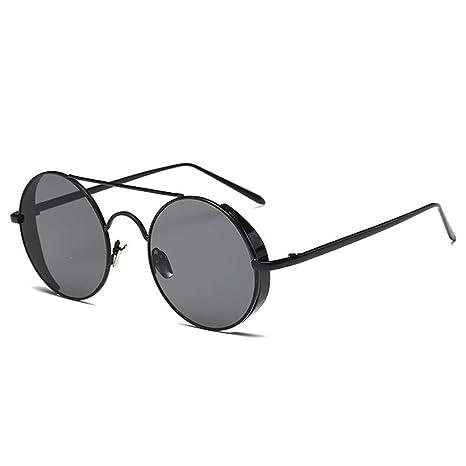 Shuzhen,Fashion Round Metal Rim Vintage Gafas de Sol ...