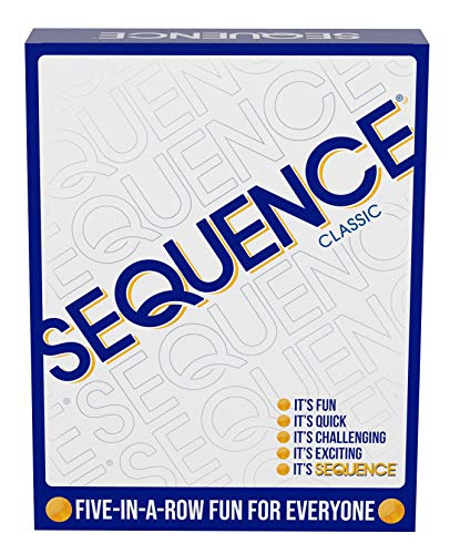 "SEQUENCE- Original SEQUENCE Game with Folding 10.3"" x 8.1"" x 2.31"", White"
