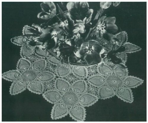 #0948 FLOWER CENTERPIECE VINTAGE CROCHET PATTERN Single Patterns