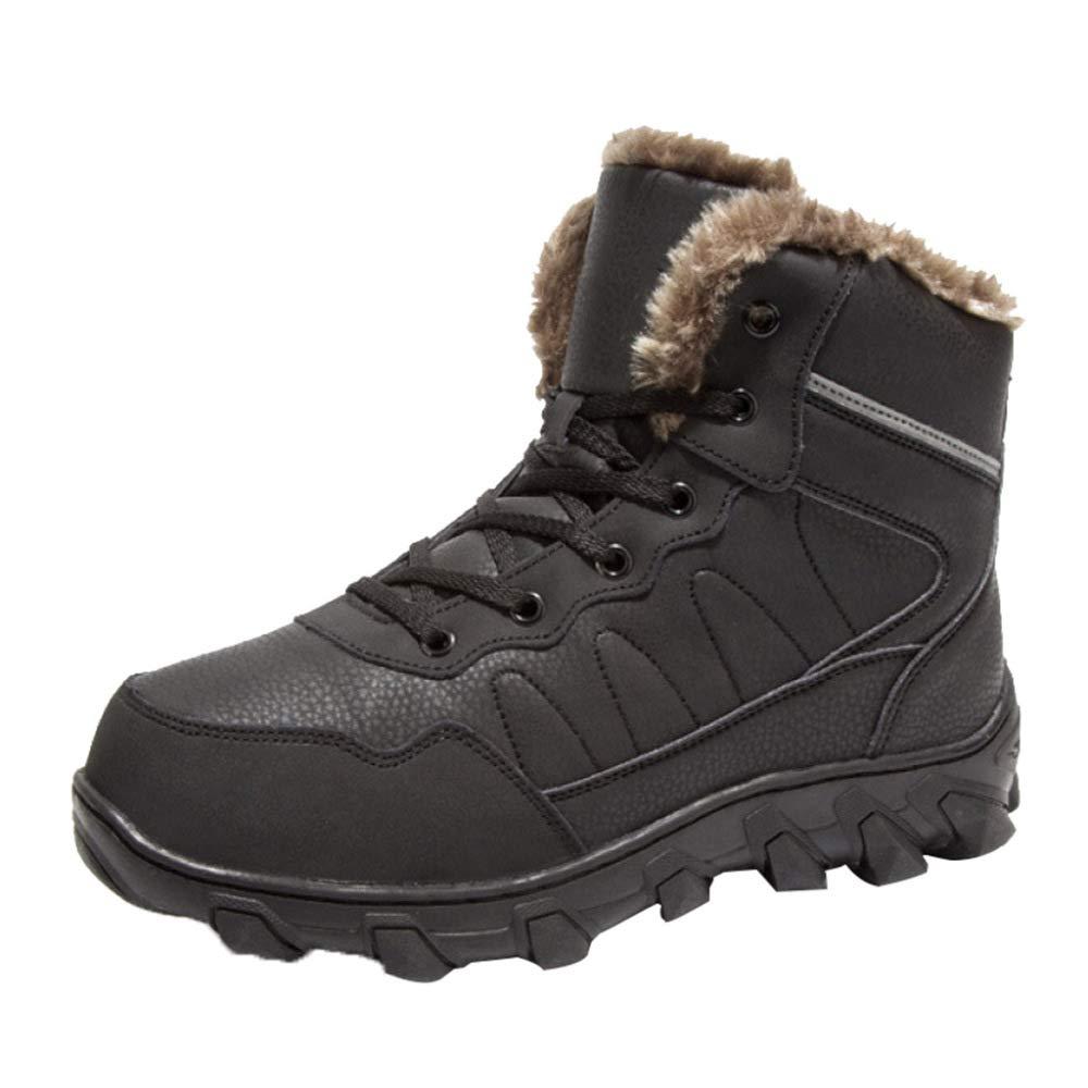 MISS LI Schneeschuhe Herren Outdoor-Schuhe Pelz Gefüttert Knöchel Herren Rutschfeste Kurze Röhre Im Freien Turnschuhe