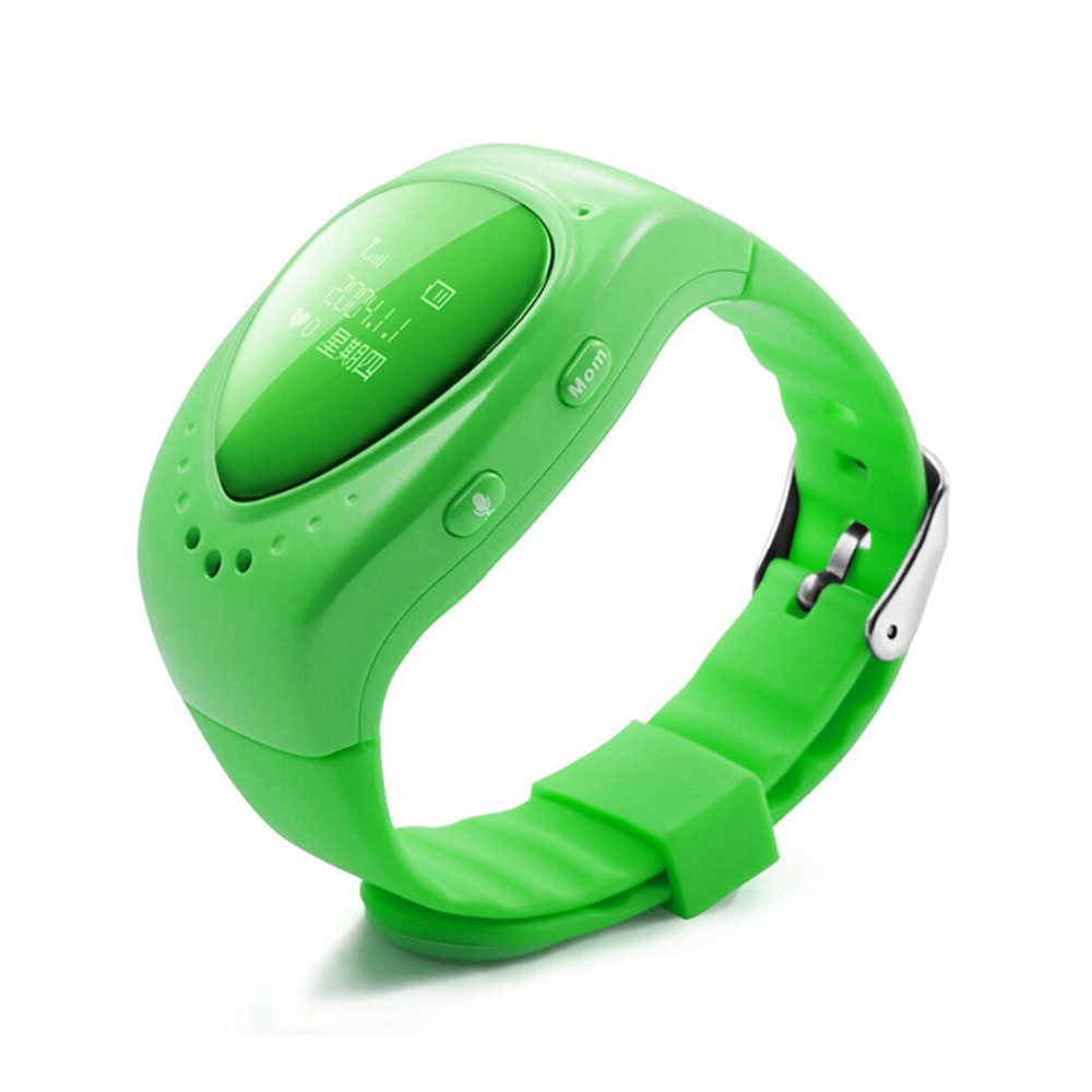Zarsson Smart GPS Watch, Personal Spy GPS Tracker GSM Bracelet Smartwatch For Kids With SOS Alarm Support Android & IOS SIM Card Wristwatch (Green)