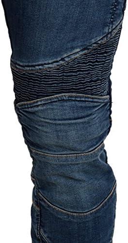 Qaswa Hombre/Motocicleta Pantalones Moto Jeans Con Protecci/ón Aramida Motorcycle Biker Pants