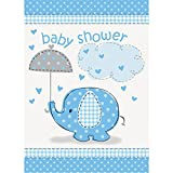 Blue Elephant Boy Baby Shower Invitations, 8ct