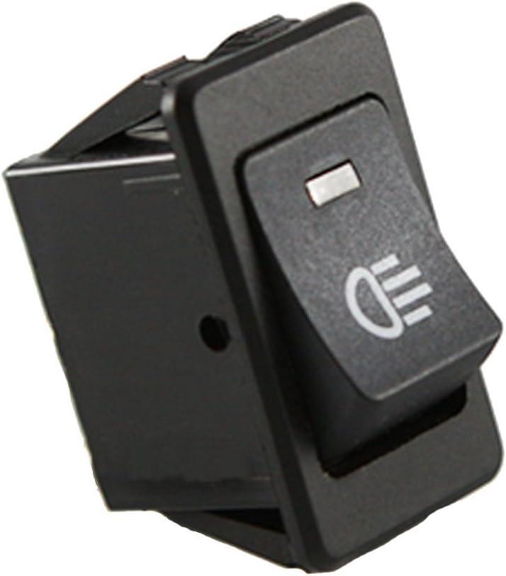Mintice/™ 12V Jaune voiture moto lumi/ère de brume bouton d/éclairage de linterrupteur /à bascule LED 4Pin