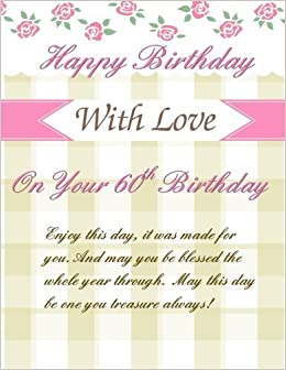 On Your 60th Birthday Greetings Weekly Planner Gifts For Women In Al60th Her Card