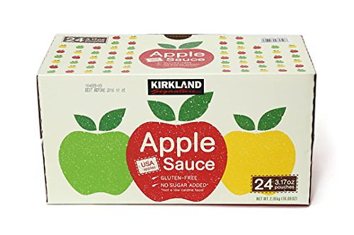 Costco Kirkland apple sauce pouch 90gX24 pieces (baby food / cuisine of the secret ingredient / snack) by KIRKLAND (Kirkland)