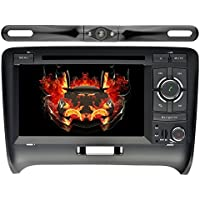 YINUO 7in Android 7.1.1 Quad Core Car Stereo 2 Din multimedia HD Touch Screen Car Radio Receiver CD/DVD GPS Navigation for Audi TT (2006-2014) support Bluetooth Wifi/AM/FM Radio,Backup Camera
