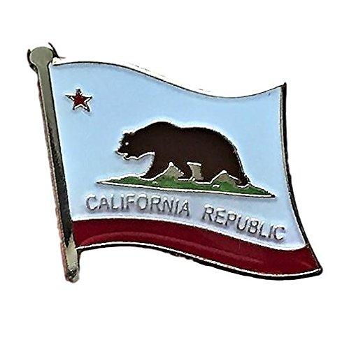 "Backwoods Barnaby California Flag Pin/U.S. State Lapel Pins Collections (CA, 0.75"" x 0.75"")"