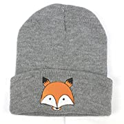 Baby Beanie, Misaky Boys Girls Hat Fox Cotton Hat Child Knitting Caps (Gray)
