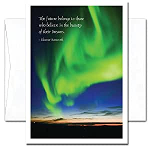 Aurora Verde: New Year Holiday Cards - box of 10 cards and envelopes