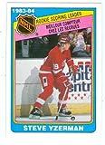 Steve Yzerman hockey card 1984 O-Pee-Chee #385 Record Breaker (Detroit Redwings) Rookie Card