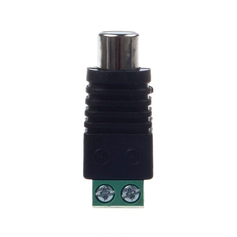 Hidream 1 Paar RCA Stecker Adapter Set, Cinch Kabel Buchse ...
