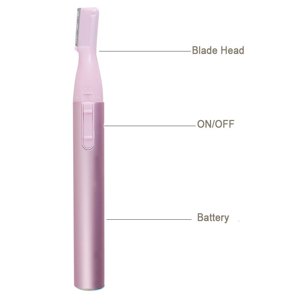 Wishesport Bikini Hair Trimmer with Brush and Comb Electric Eyebrow Trimmer Portable Women Nose Ear Hair Trimmer Eyebrow Razor Ladies Bikini Trimmer