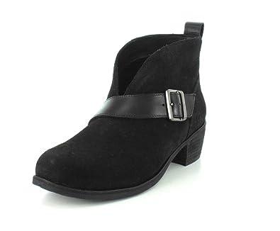 b8027b8c205 UGG Wright Belted Ankle Boot Black (UGFW001) (UK 5.5): Amazon.co.uk ...