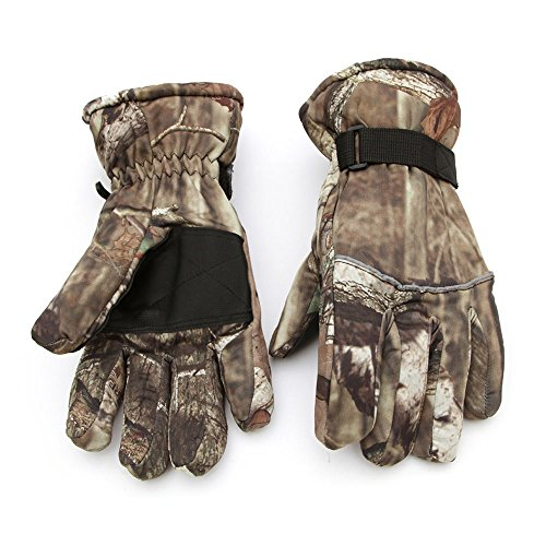 Skiing & Snowboarding Camouflage Warm Winter Snowboard Ski Gloves,Windproof Waterproof Snowmobile Motorcycle Riding Outdoor Sport Tactical Gloves