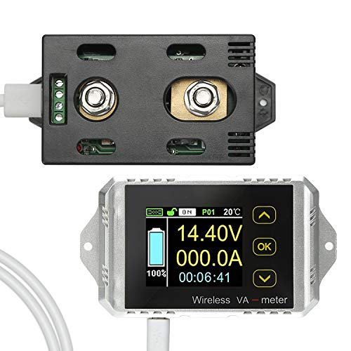 - Koolertron Wireless Battery Tester Digital Multimeter Charge-Discharge DC 0-100V 0-30A, Volt Meter/Ammeter/Watt Meter/Time/Temperature/Capacity/Electricity Usage Monitor/Coulomb Counter (100A)