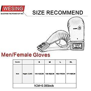 wesing WKF Karate Gloves Karate Mitts Blue red