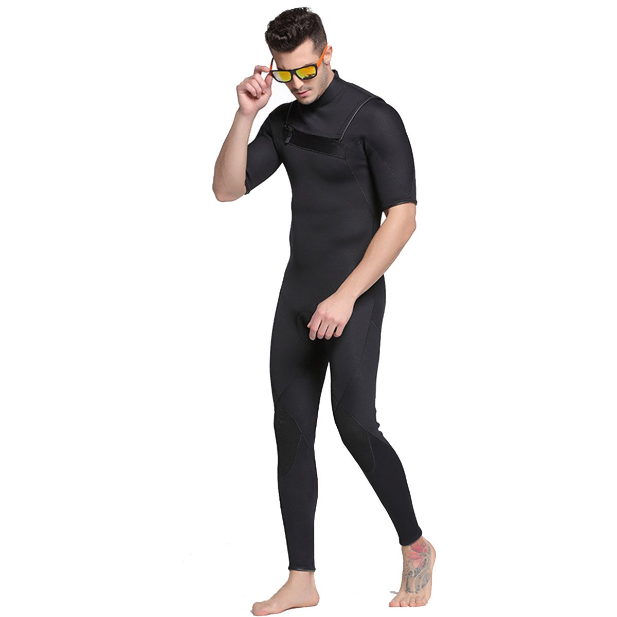 SANANG 3 MM Herren Einteilige Neopren Neoprenanzüge Tauchen Schwimmen Surfen Anzüge Warme Volle Badeanzug Nassanzug