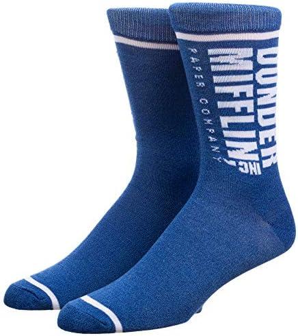 Bioworld The Office Dunder Mifflin Inc Adult Crew Socks