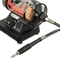 """Neiko 10207A 3"""" Mini Bench Grinder and Polisher with Flexible Shaft and Accessories 