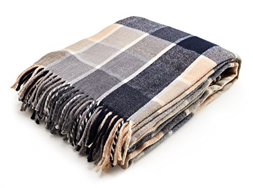 - Arus Highlands Collection Tartan Plaid Design Throw Blanket Blue 60