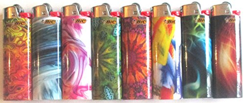 Price comparison product image BIC Special Edition Bohemian Series Lighters,  Set of 8 Lighters